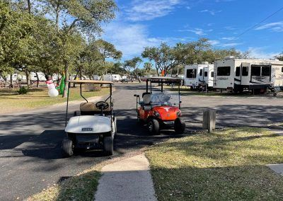 golf carts at Rockport RV Park